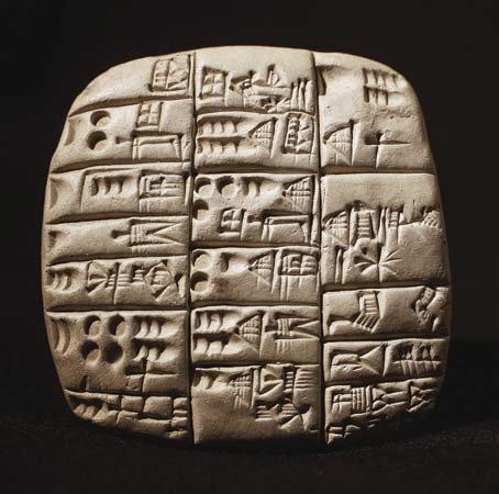 Example of Sumerian cuneiform script - https://media1.britannica.com/eb-media/93/